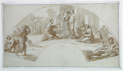 Design for a fan: Worship of Venus by Art