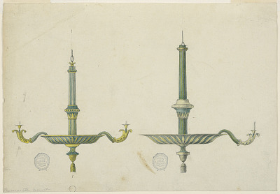 Two Elevations for a Chandelier
