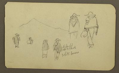 Figures, mountains; Verso: St. Orizaba