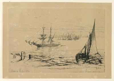 A Brig at Anchor