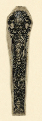 Design for a Knife Handle Showing Prudence