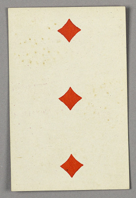 Three of Diamonds from Set of