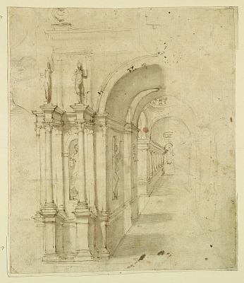 Stage Design: View Through Archway
