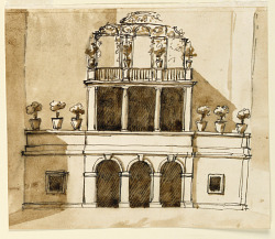 Elevation of a garden house
