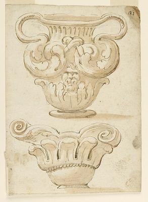 Design for Two Decorative Vases