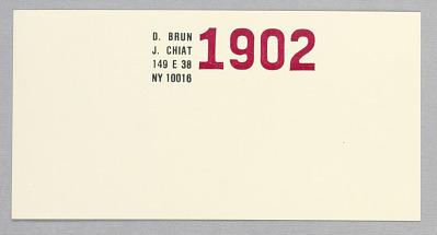 Jay Chiat / Donatella Brun: Stationery
