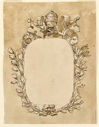 Frame for a papal inscription