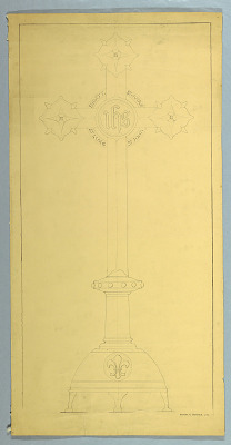 Ecclesiastical Ornament Drawing: Cross