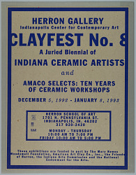 Clayfest No. 8, for the Herron Gallery, Indianapolis Center for Contemporary Art