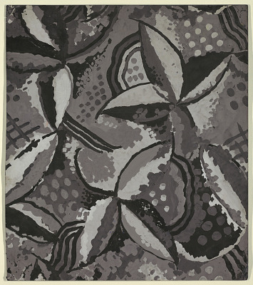 Carpet Design: Stylized Flowers, Gray