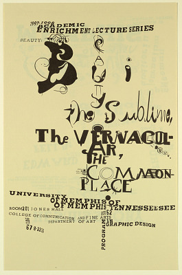 Ed Fella... The Sublime, the Vernacular, The Commonplace/University of Memphis
