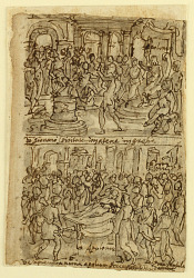 Four scenes from the life of Apollonius of Tyana (recto and verso)