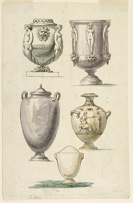Designs for Urns in the Antique Style