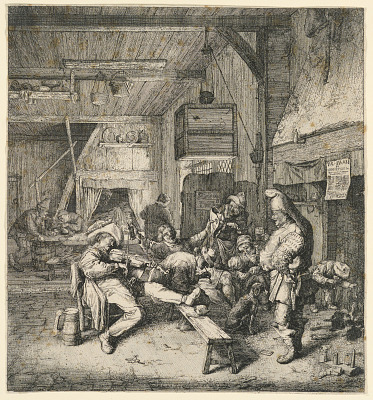 Violinist Seated in the Inn