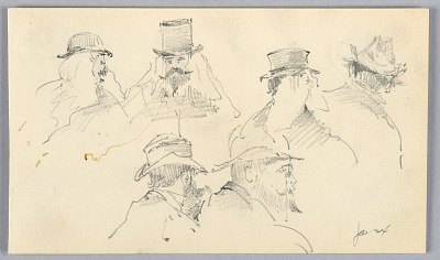 Sketches of Heads of Men