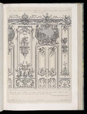 Wall with Double Door and Overdoor Painting, Livre de Lambris (Book of Wainscoting)