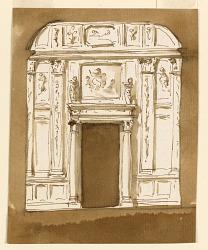 Door Wall Elevation of the Noble Cabinet, Palazzo Altieri