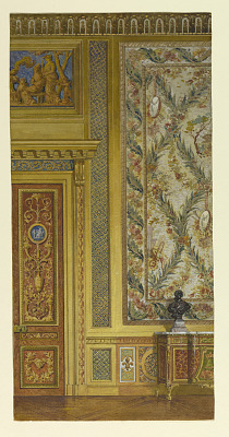 Section of a wall, Queen's bedroom