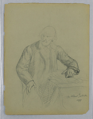 Study for a Portrait of Albert Gallatin Seated, with Study of Miss. Litchfield's Right Hand, verso