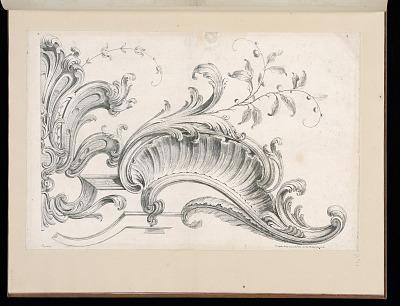 Design for Rocaille Decoration, plate 4 in Seconde Partie de divers Ornements