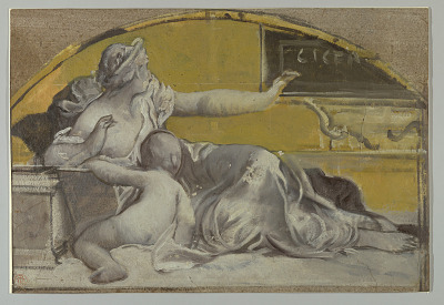 Study for Tympanum in Honor of Cicero