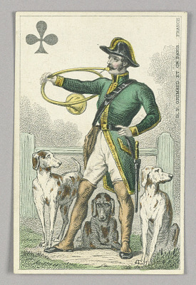 French Huntsman, Jack of Clubs from Set of