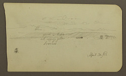Mountain Landscape, Figure; Verso: Landscape