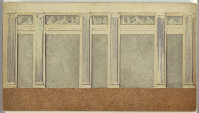Elevation of Wall opposite Room Windows designed by Louis Adrien Masreliez