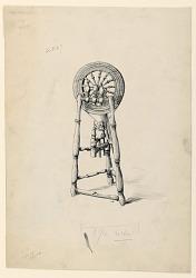 Irish Immigrant's Flax-Wheel