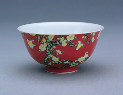 Small bowl with overglaze decoration