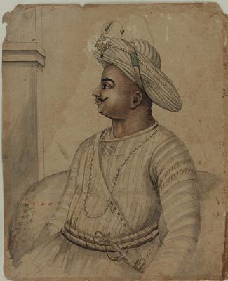 Portrait of Tippoo Sultan (1749-1799)