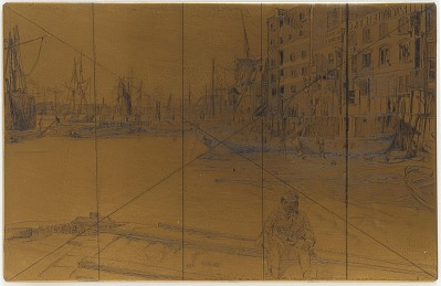 Etching plate: Eagle Wharf (Tyzac Whiteley and Co.)