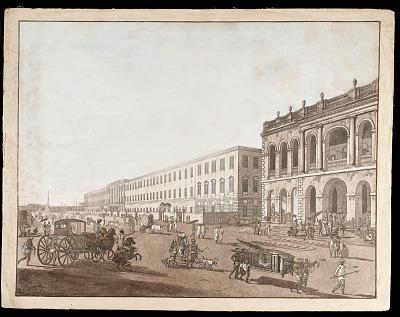 <em>The Old Court House and Writers' Building</em> from <em>Views of Calcutta</em>