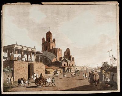 Gentoo Pagoda and House from the <em>Views of Calcutta<em>