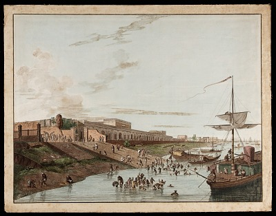 The Old Fort Ghauht from the <em>Views of Calcutta<em>