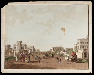 Old Court House Street Looking South from the <em>Views of Calcutta<em>