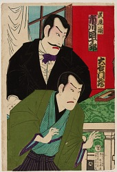 Two Kabuki Actors Offstage