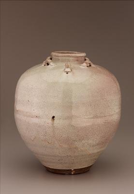 Shigaraki ware tea-leaf storage jar