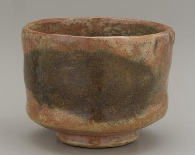 Tea bowl, unknown Raku ware workshop