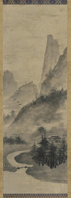 Landscape: mountains and stream
