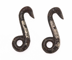 Pair of fittings/hooks with duck's heads
