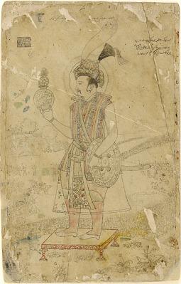 Emperor Jahangir holding an orb