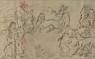 Frolicking animals (<em>Choju Giga</em>)