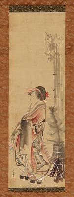 Girl playing battledore and shuttlecock