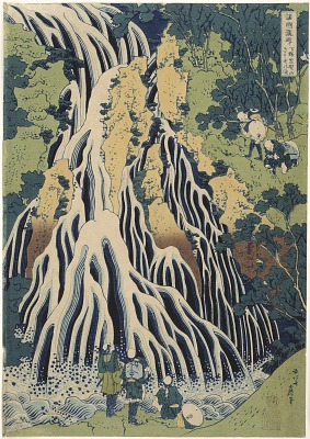 Kirifuri Waterfall at Mt. Kurokami in Shimotsuke Province, from the series