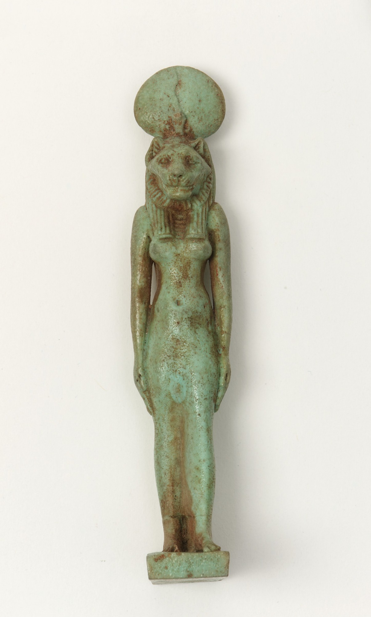 images for Amulet of a goddess, perhaps Sakhmet