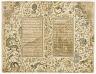 folio 6 verso - folio 7 recto: Folio from a Gulistan (Rosegarden) by Sa'di; recto: Sa'di in the rose garden; verso: text