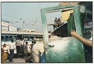 A Bus and Statue of Subhas Chandra Bose, Calcutta, 1987