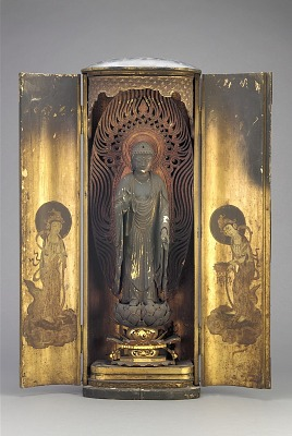 Amitabha (Amida), contained within a closed shrine