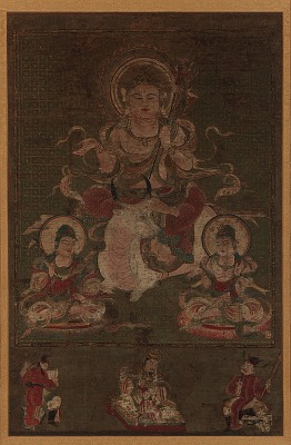 Emma-ten and Two Attendants; below, Emma-o and Two Attendants